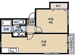 第二テラダハイツ[2階]の間取り