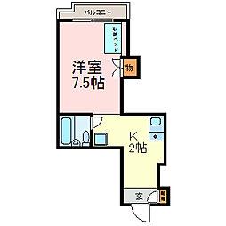 コーポ伊勢山[2階]の間取り