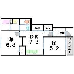 キャナール[1階]の間取り