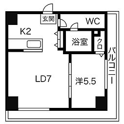 AMSタワー中島[2001号室]の間取り