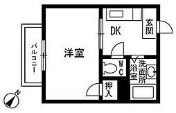 コロニーオークス[1階]の間取り