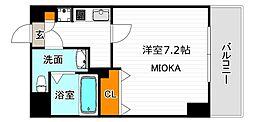 Mプラザ長居駅前 2階1Kの間取り