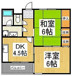 エスケイハイム[3階]の間取り