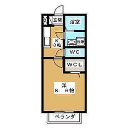 UNO HOUSE[2階]の間取り