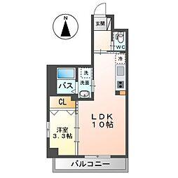 Grandeur Hakata(グランドゥールハカタ) 4階1LDKの間取り