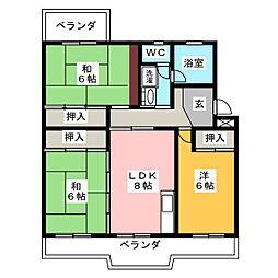 東静マンション[2階]の間取り