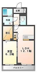 仮 八幡宿マンション[3階]の間取り