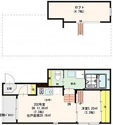仮)東住吉区北田辺五丁目SKHコーポ[2階]の間取り
