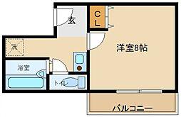 オアシス羽倉崎[6階]の間取り