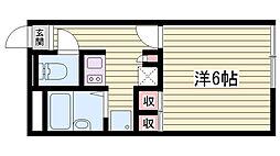 山陽電鉄本線 大蔵谷駅 3.3kmの賃貸アパート 1階1Kの間取り