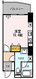 エトワール北新地 13階1Kの間取り