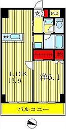 インシュランスビルディング II・III[6階]の間取り