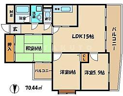 フレアコート京橋[3階]の間取り