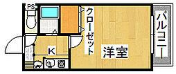 生駒カッレジシティI号棟[2階]の間取り