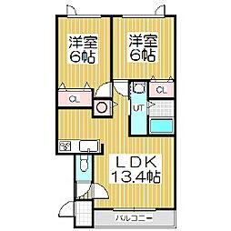 クリークウッドIII[2階]の間取り