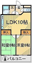 東京都調布市八雲台1丁目の賃貸マンションの間取り