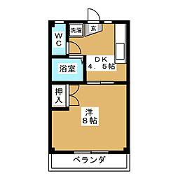 第2むかゆう荘[2階]の間取り