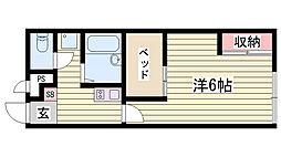 山陽電鉄本線 舞子公園駅 徒歩20分の賃貸アパート 1階1Kの間取り