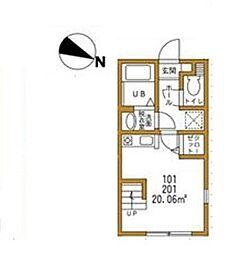 ハーミットクラブハウスキアーヴェ[2階]の間取り