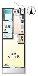高松琴平電気鉄道志度線 潟元駅 徒歩10分の賃貸アパート 1階1Kの間取り