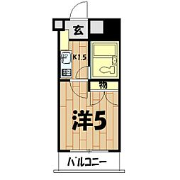 パレ・ドール鶴ケ峰[319号室]の間取り
