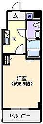 グランフォース北綾瀬[610号室]の間取り