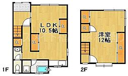 [一戸建] 福岡県福岡市中央区地行4丁目 の賃貸【/】の間取り