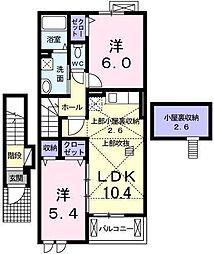 プランドール(備後東)[2階]の間取り