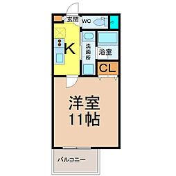 愛知県名古屋市中村区名駅南3丁目の賃貸マンションの間取り