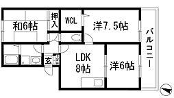 レーベンスアルト[1階]の間取り