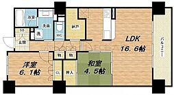 エル・セレーノ上本町レジデンス[2階]の間取り