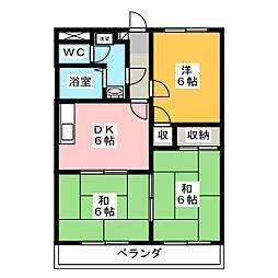 ストークハウス岩崎A[1階]の間取り