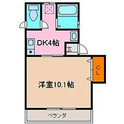 IMAZUハイツ島田[102号室号室]の間取り