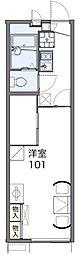 JR片町線(学研都市線) 四条畷駅 徒歩6分の賃貸アパート 2階1Kの間取り