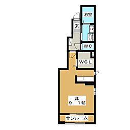 エクセル新青森B[1階]の間取り