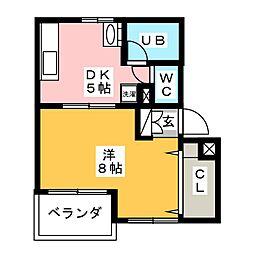 菱電アパート1号棟[4階]の間取り