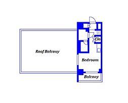 京急本線 戸部駅 徒歩7分の賃貸マンション 10階ワンルームの間取り