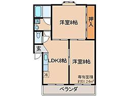 京都府京都市伏見区両替町3丁目の賃貸マンションの間取り