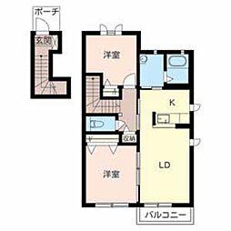 ラ ヴィータ[2階]の間取り