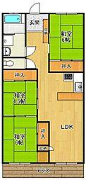 ドゥエリング北夙川[1階]の間取り
