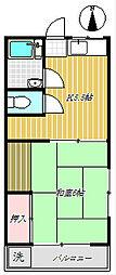 サンキンマンション[2階]の間取り