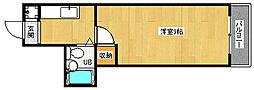京都府京都市上京区二本松町の賃貸マンションの間取り