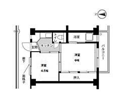 ビレッジハウス片山1号棟[308号室]の間取り