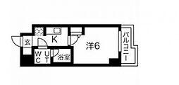 スパシエソリデ武蔵小杉 4階1Kの間取り