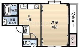 ツリガネコーポ[2階]の間取り