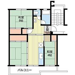 船橋駅アクセスも可人気エリア夏見台団地[2階]の間取り