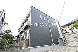 東京都調布市多摩川2丁目の賃貸アパートの外観