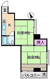 富永ビル[2階]の間取り