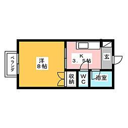 コーポ長谷[2階]の間取り