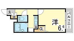 兵庫県神戸市須磨区横尾1丁目の賃貸マンションの間取り